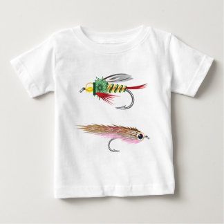 採取は魅惑虫および小魚を飛ばします ベビーTシャツ