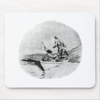 採取-小舟の漁師 マウスパッド