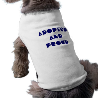 採用され、誇りを持ったな犬のTシャツ ペット服