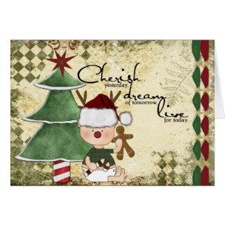 採用のギフトのクリスマスカード カード