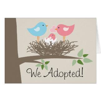 採用の発表-鳥の巣 カード