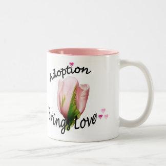 採用は愛コーヒー・マグを持って来ます ツートーンマグカップ