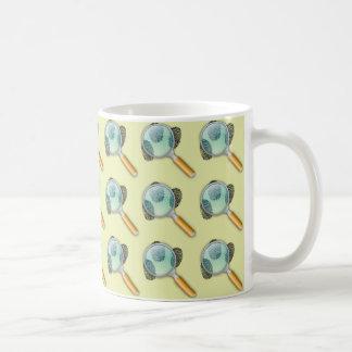 探偵のための指紋そして拡大鏡 コーヒーマグカップ