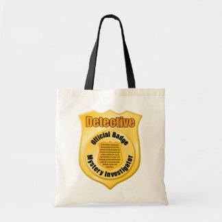 探偵のバッジのトートバック トートバッグ