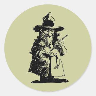 探偵の悪賢いOlのGumshoeの殺人事件推理小説の探偵 ラウンドシール