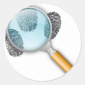 探偵の糸口の発見指はミステリーの指紋をとります ラウンドシール