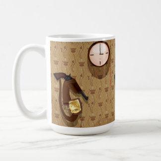 探偵の警察は記章を付けます コーヒーマグカップ