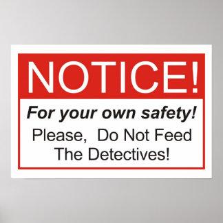 探偵を食べ物を与えないで下さい! ポスター