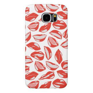 接吻すること準備ができた赤い唇 SAMSUNG GALAXY S6 ケース