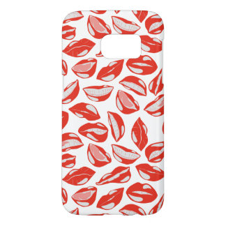 接吻すること準備ができた赤い唇 SAMSUNG GALAXY S7 ケース