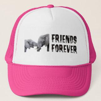 接吻する永久に友人象の/抱き締めること キャップ