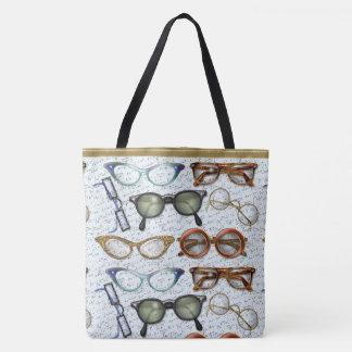 接眼レンズのファッションパターン トートバッグ