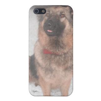 接着のTongueOut Iphoneの場合4/4のジャーマン・シェパード iPhone 5 Case