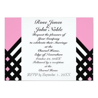 接辞の黒檀IIIの(ピンクの)結婚式招待状 カード