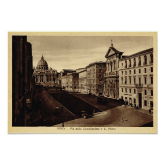 接近のセントピーターのバシリカ会堂 ポスター