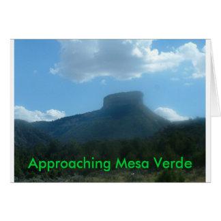 接近メサVerdeの挨拶状 カード