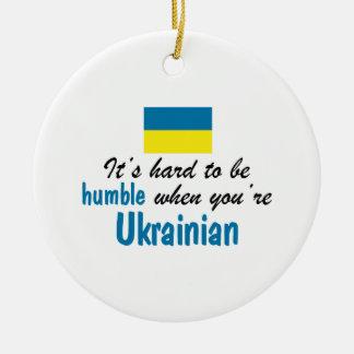 控え目なウクライナ語 セラミックオーナメント