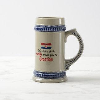控え目なクロアチア ビールジョッキ