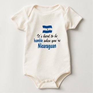 控え目なニカラグア人 ベビーボディスーツ