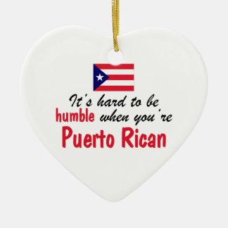 控え目なプエルトリコ人 セラミックオーナメント