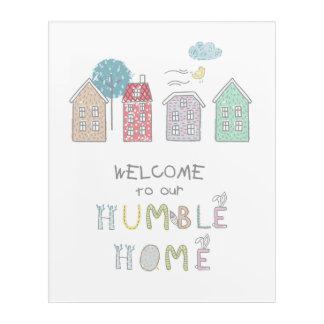 控え目な家の歓迎ID372 アクリルウォールアート