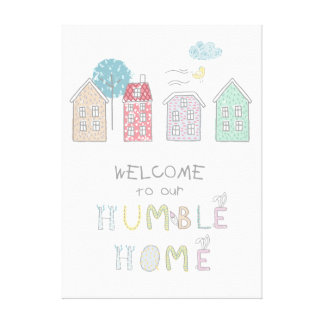 控え目な家の歓迎ID372 キャンバスプリント