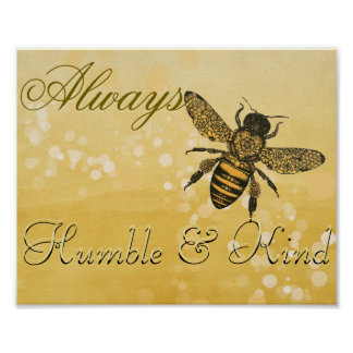 控え目な蜂及び種類 ポスター