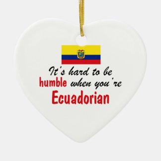 控え目なEcuadorian セラミックオーナメント