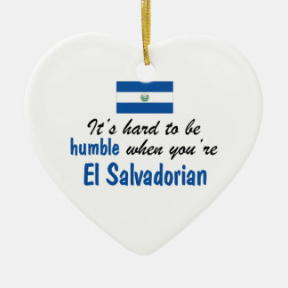 控え目なElエルサルバドル人 セラミックオーナメント