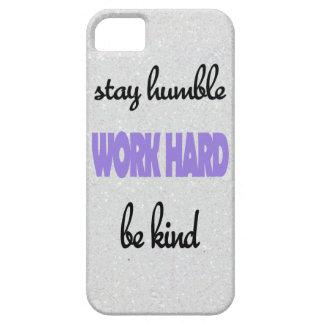 """""""控え目に、仕事の懸命、あります親切な""""電話箱がとどまって下さい iPhone SE/5/5s ケース"""