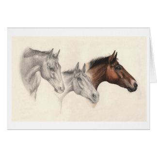 描かれ、絵を描かれる純血種の馬 カード