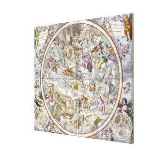 描写されるキリスト教の星座の地図 キャンバスプリント