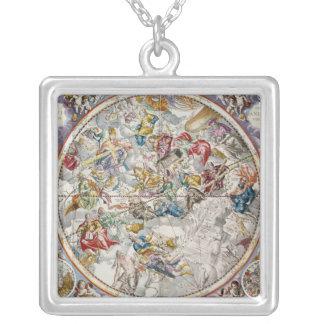 描写されるキリスト教の星座の地図 シルバープレートネックレス