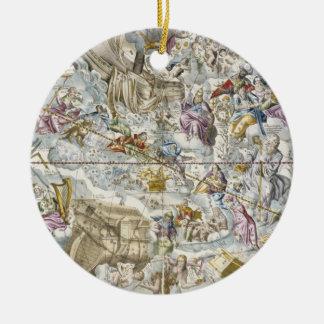 描写されるキリスト教の星座の地図 セラミックオーナメント