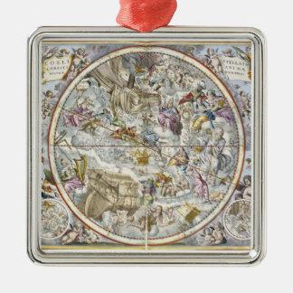 描写されるキリスト教の星座の地図 メタルオーナメント