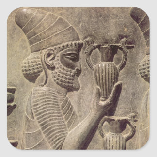 提供する2つ詳細のレリーフ、浮き彫りを運んでいるPhoenician スクエアシール