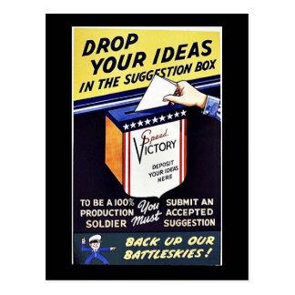 提案箱のあなたのアイディアを落として下さい ポストカード