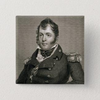 提督のオリバーの危険ペリー(1785-1819年)は、刻みます 5.1CM 正方形バッジ