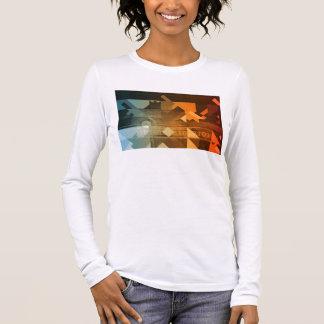 提示のための概念として科学の研究 長袖Tシャツ