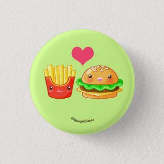 揚げ物のPinbackかわいいハンバーガー及びボタン 缶バッジ