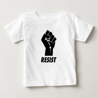 握りこぶしに抵抗して下さい ベビーTシャツ