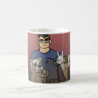 """""""握り""""犬のcody及びチャンス襲って下さい コーヒーマグカップ"""