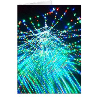 揺らめくクリスマスツリー カード