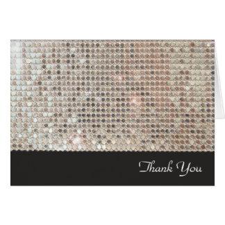 揺らめくスパンコールはメッセージカード感謝していしています ノートカード