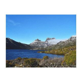 揺りかご山ST CLAIRの国立公園タスマニア キャンバスプリント