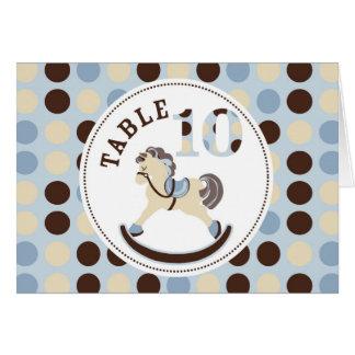 揺り木馬のテーブルカード10 カード