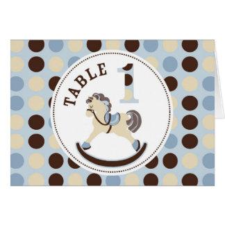 揺り木馬のテーブルカード1 カード