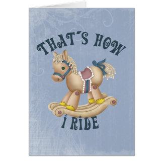 揺り木馬の乗車 カード