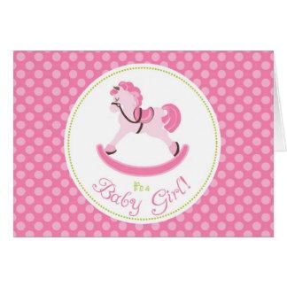 揺り木馬の女の子カード カード