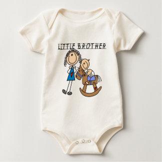 揺り木馬の弟のTシャツ ベビーボディスーツ